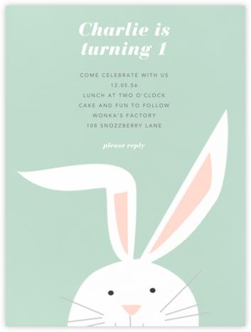 Bunny - Mint - Paperless Post -