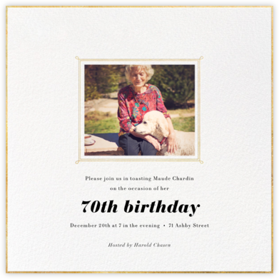 Traditional Frame - Paperless Post - Milestone birthday invitations
