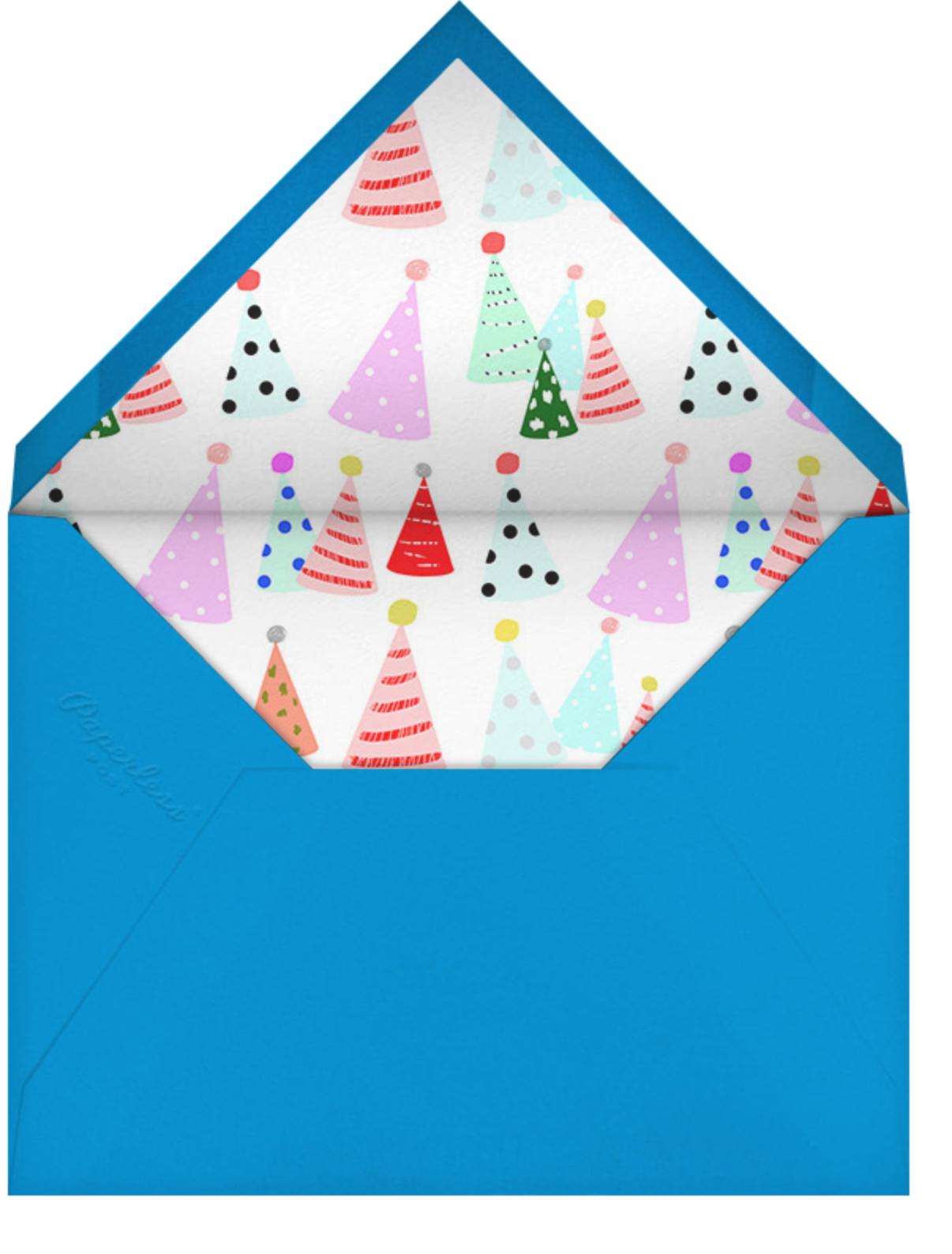 Party Hats - Ashley G - 1st birthday - envelope back