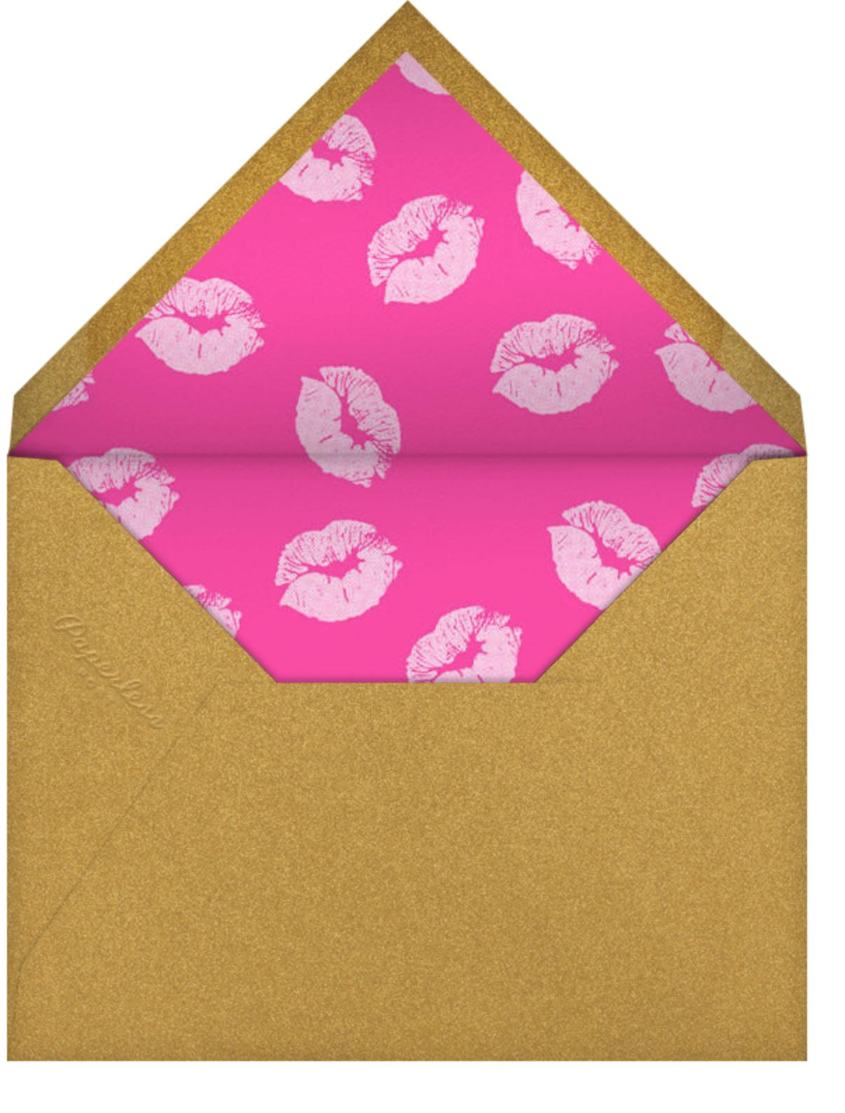 Snapshot - Gold Kiss - Paperless Post - Adult birthday - envelope back