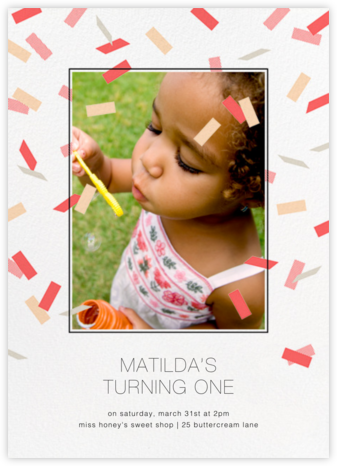 Parade Day - Coral - Paperless Post - First Birthday Invitations