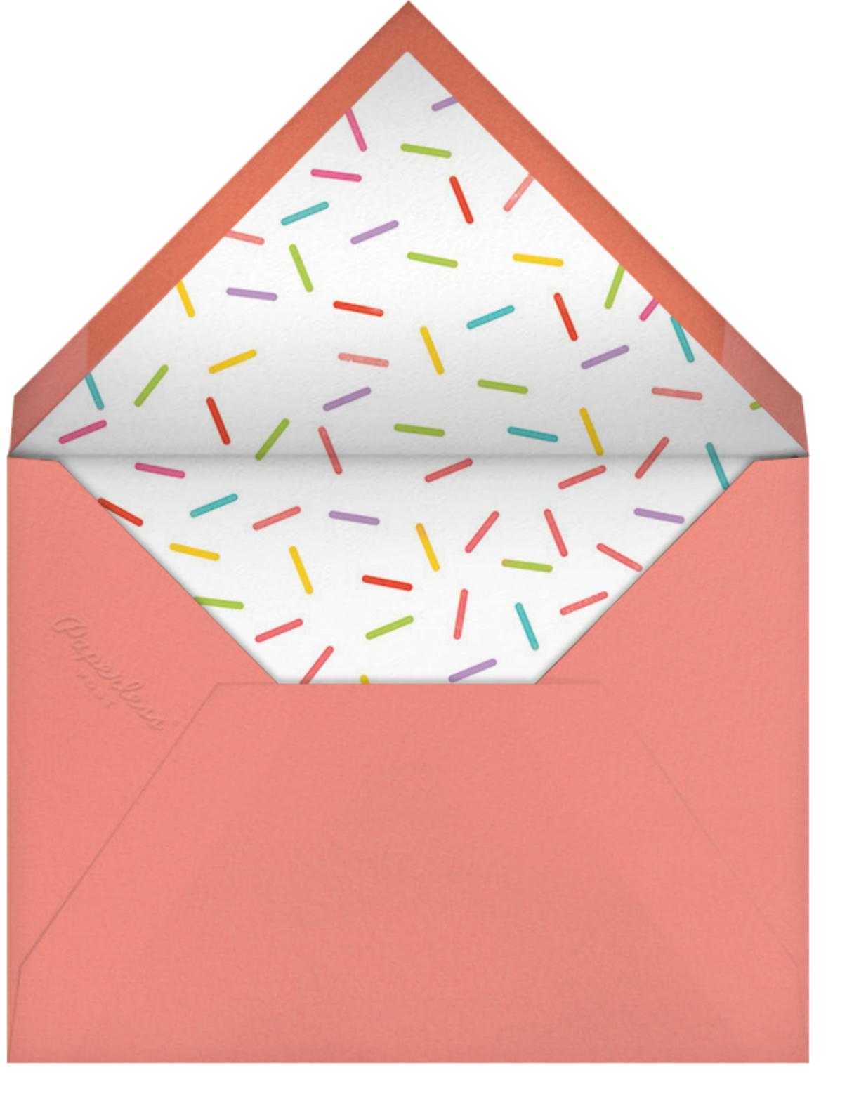 Cupcake Social (Photo) - Paperless Post - 1st birthday - envelope back