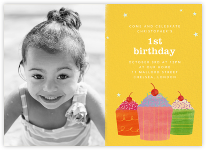 Cupcake Social (Photo) - Paperless Post - First Birthday Invitations