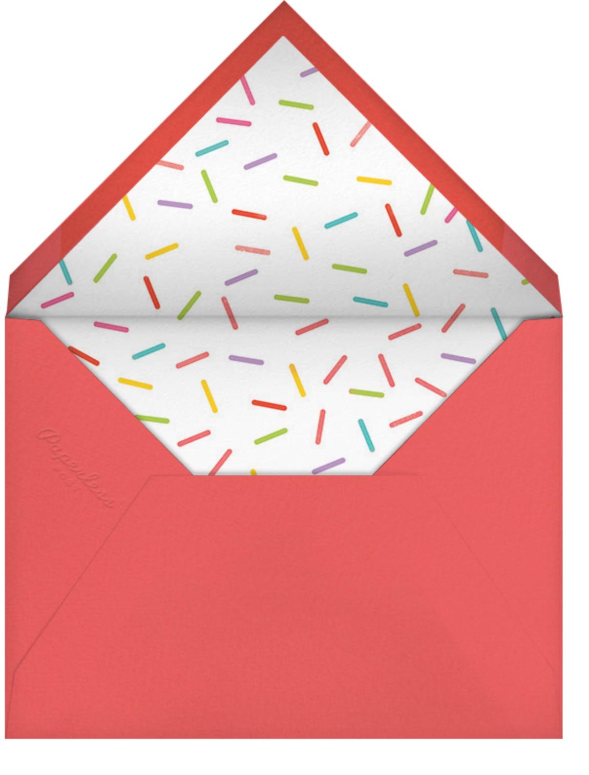 Cupcake Social - Paperless Post - First birthday - envelope back