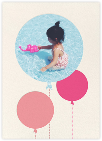 Balloon Birthday (Photo) - Pink - kate spade new york - First Birthday Invitations