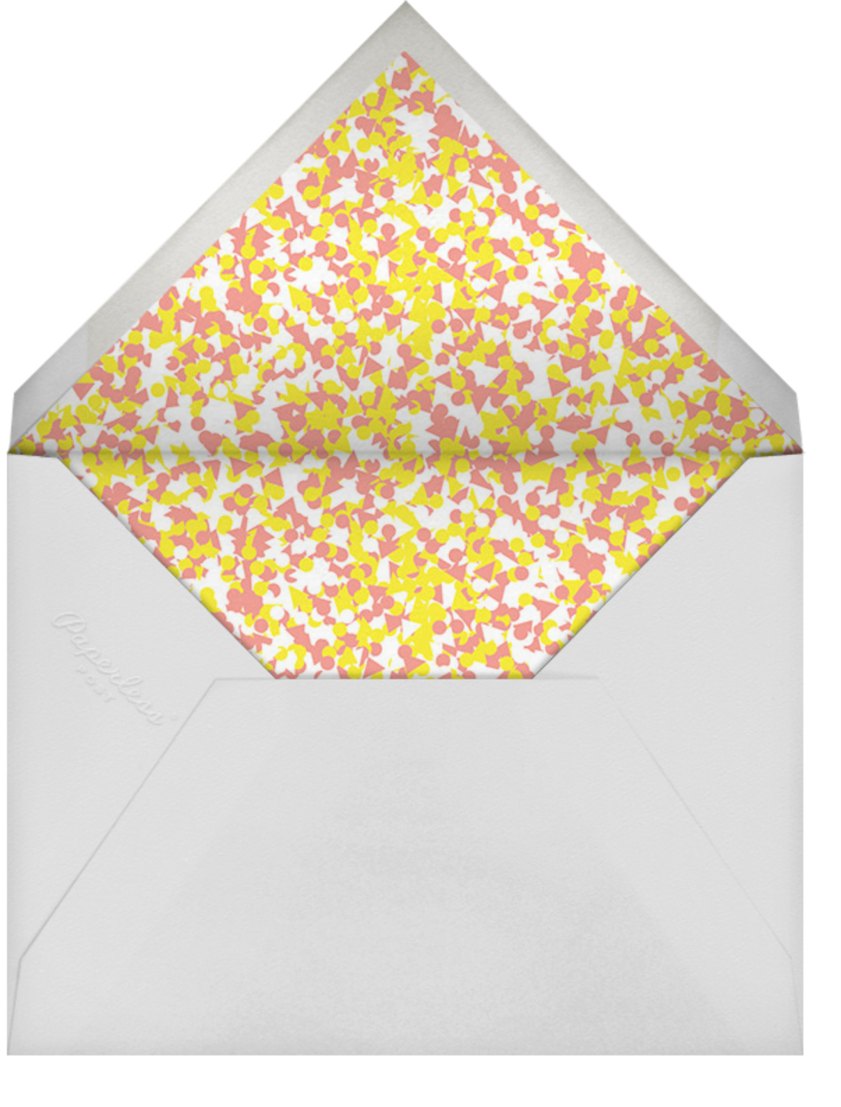The Quiet Game - Paperless Post - Adult birthday - envelope back