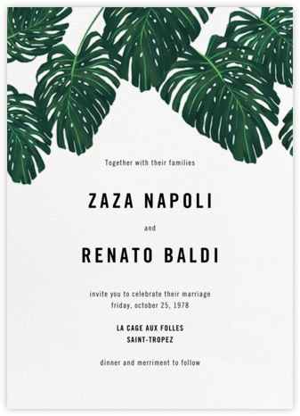 Monstera (Invitation) - Paperless Post - Destination wedding invitations