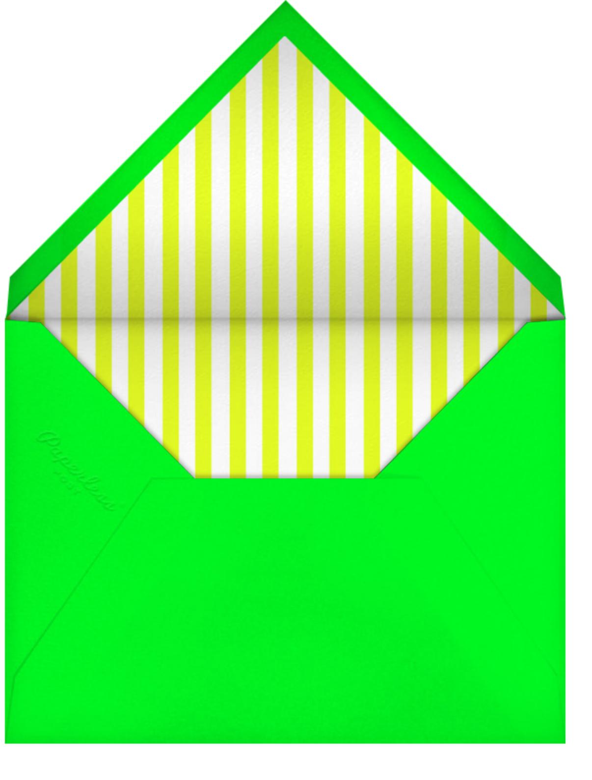 LA 1984 - Yellow - Paperless Post - Pool party - envelope back