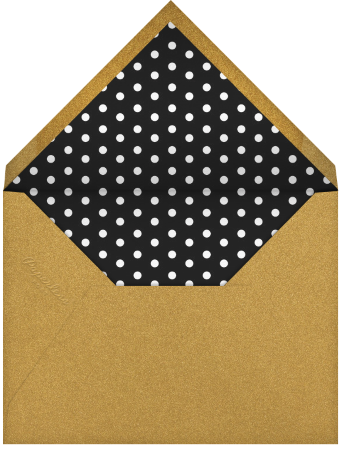 Shake N Roll - Gold - Paperless Post - Cocktail party - envelope back