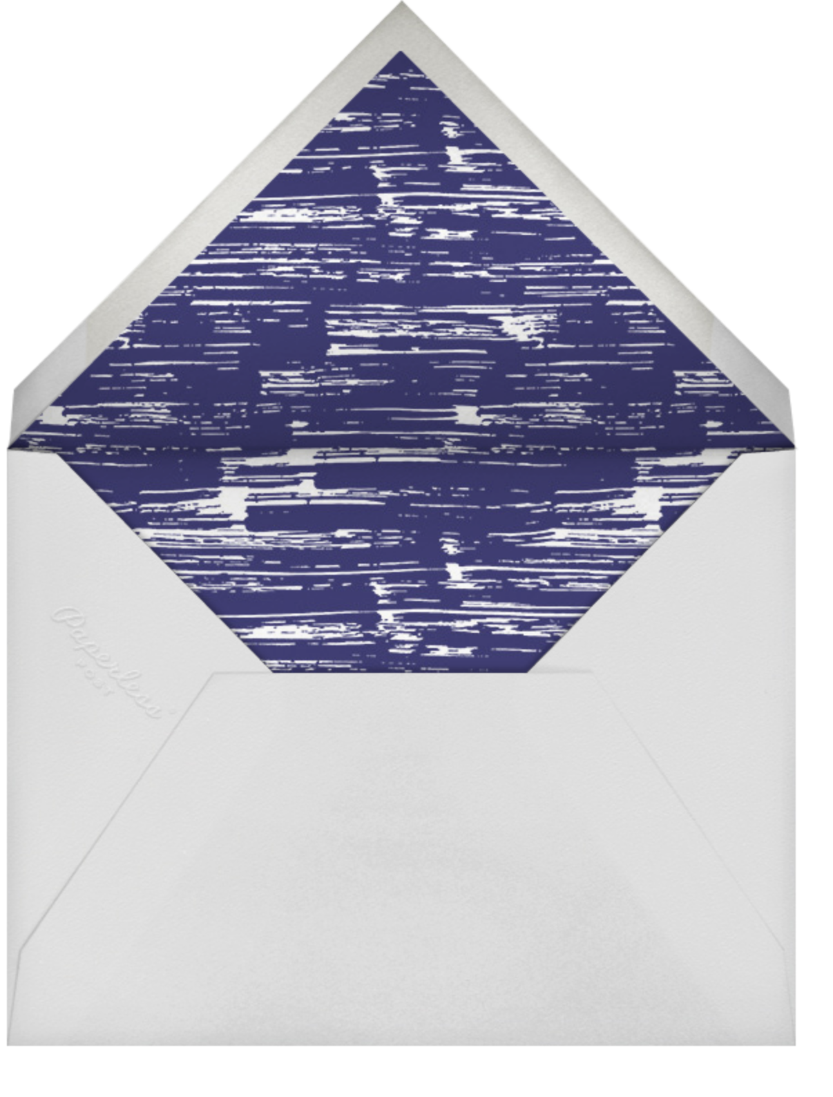 Crete Navy Vertical - Paperless Post - General entertaining - envelope back