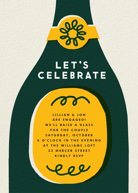 Champ Bottle - Let's Celebrate - The Indigo Bunting - New Year's Eve