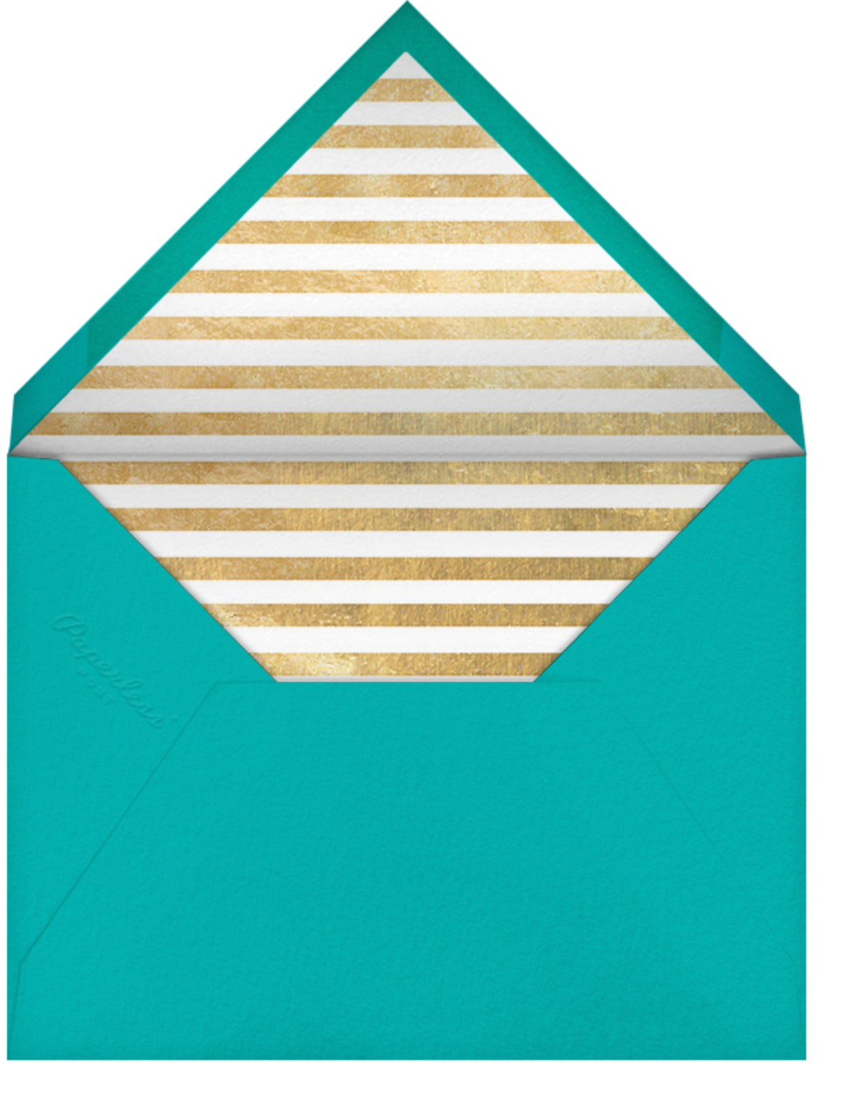Champagne Bubbles (Photo) - Gold - Paperless Post - Farewell party - envelope back