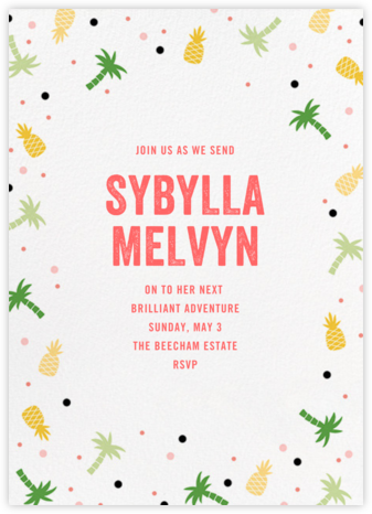 Tropicale - Paperless Post - Farewell party invitations