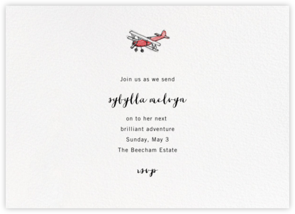 Kitty Hawk - Paperless Post - Farewell party invitations