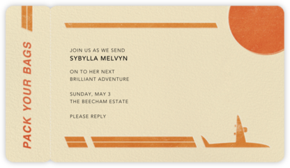 Boarding Pass - Paperless Post - Farewell party invitations