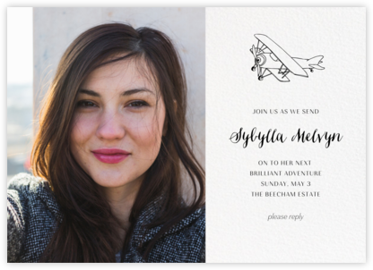 Photo Spread - White - Paperless Post - Farewell party invitations