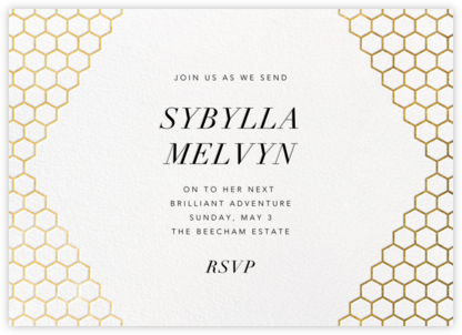 Honeycomb Party - Gold - Paperless Post - Farewell party invitations