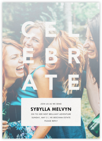 Celebratory Haze - White - Paperless Post - Farewell party invitations