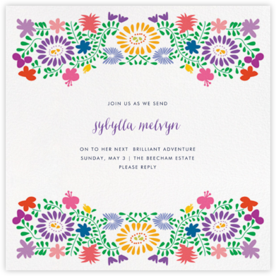 Oaxacan (Square) - White - Paperless Post - Farewell party invitations