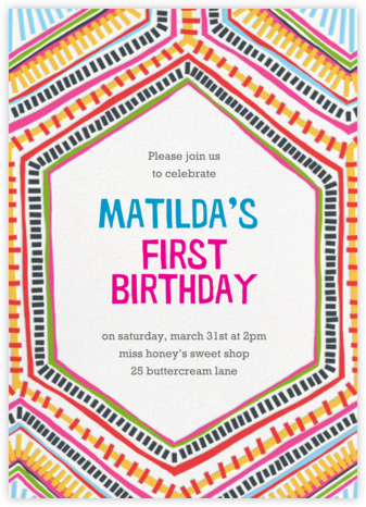 Best Brightest Ever - Crate & Barrel - First Birthday Invitations