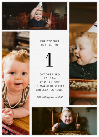 Quad - White - Paperless Post - Birthday invitations
