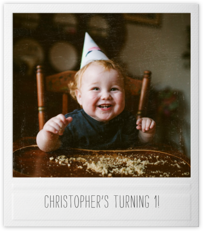 Snapshot - Double Sided - Paperless Post - First Birthday Invitations