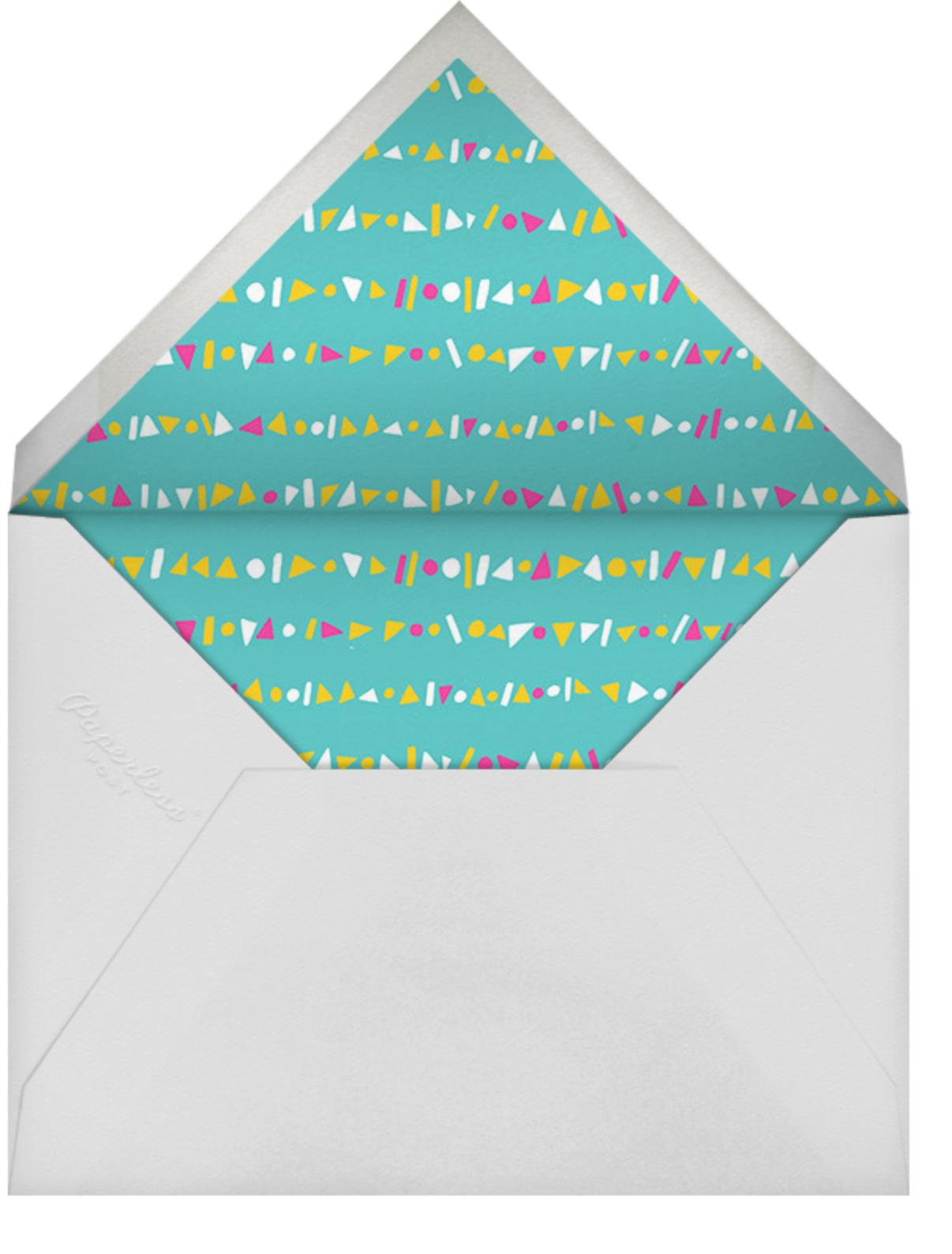 Streamer Shapes (Photo) - Bright - Paperless Post - 1st birthday - envelope back