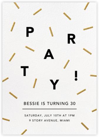 Confection - Gold - Paperless Post - Milestone Birthday Invitations