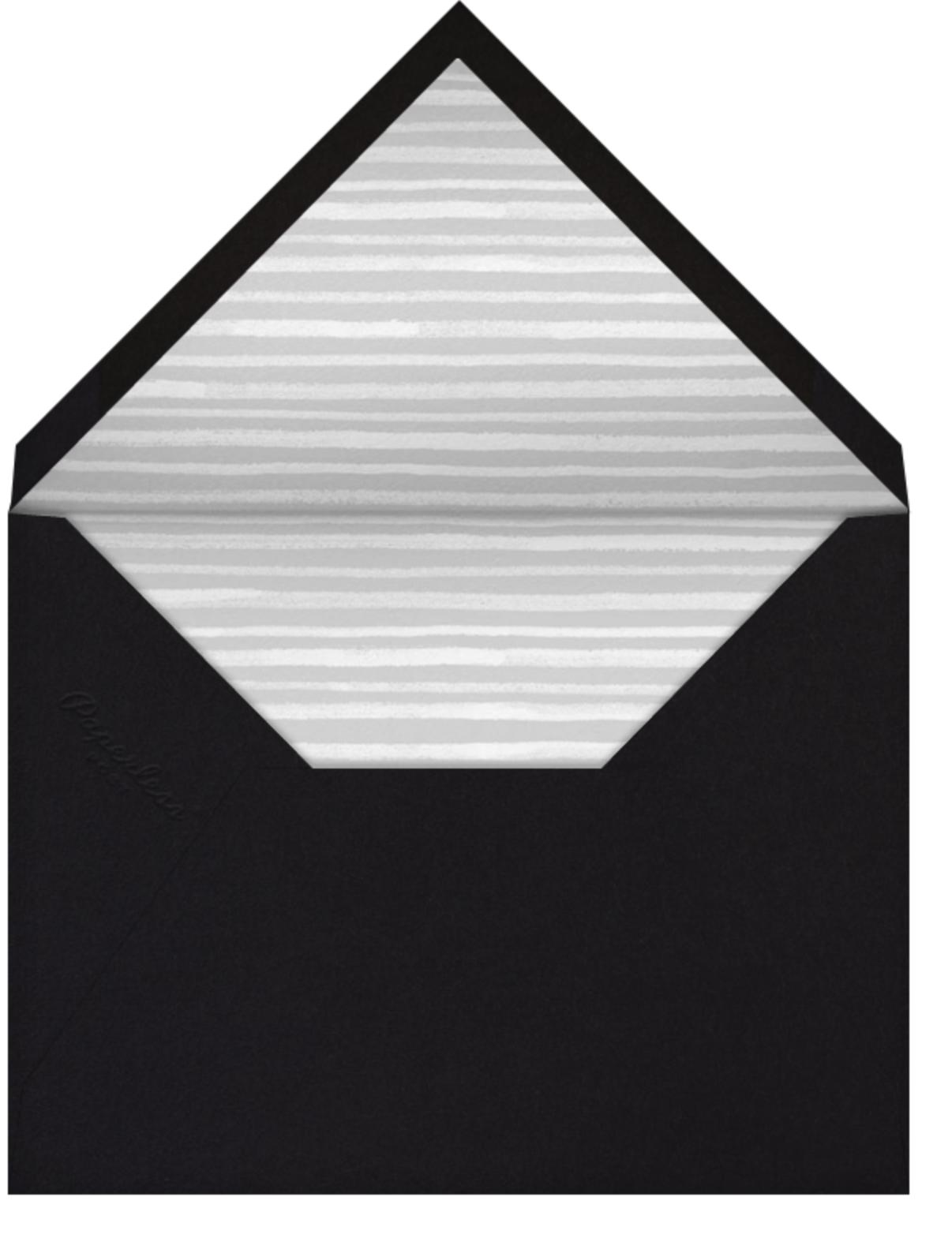 Wood Grain Color Block - Black - Paperless Post - Adult birthday - envelope back