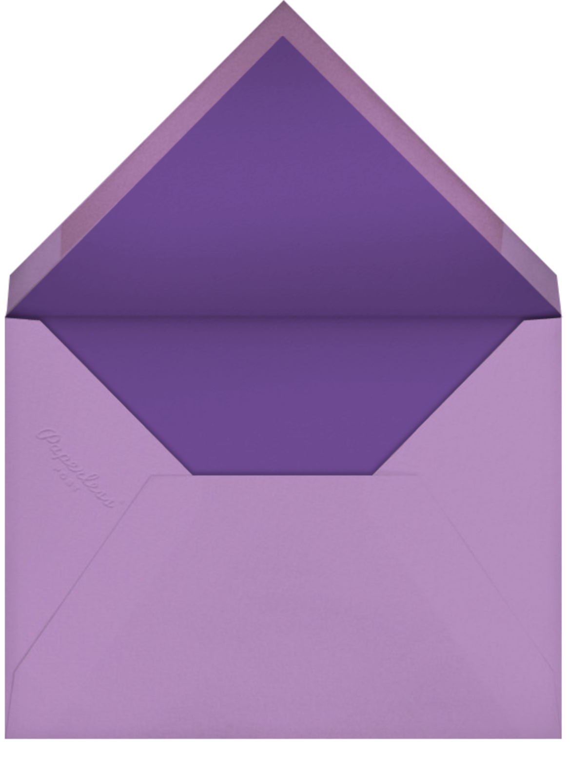 Veda - Lilac - Paperless Post - Bachelorette party - envelope back