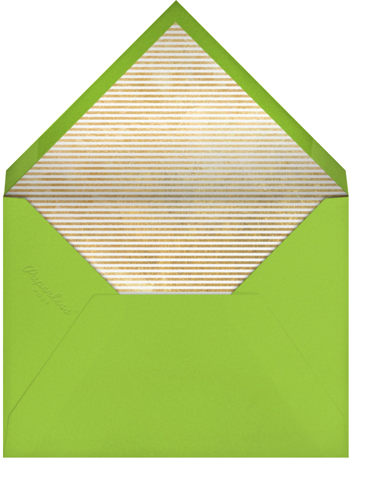 Carnaby (Photo) - Green - Paperless Post - Envelope