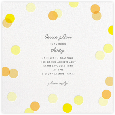 Carnaby - Yellow - Paperless Post - Adult Birthday Invitations