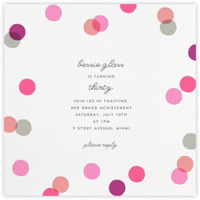 Carnaby - Pink - Paperless Post - Adult Birthday Invitations