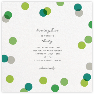 Carnaby - Green - Paperless Post - Adult Birthday Invitations