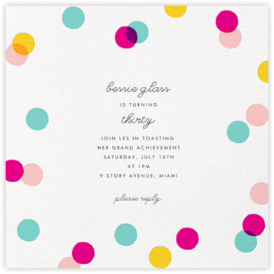 Carnaby - Multi - Paperless Post - Adult Birthday Invitations