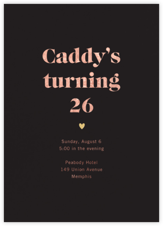 Black (Tall) - Paperless Post - Adult Birthday Invitations