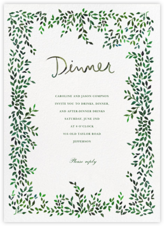Hedgerow - Happy Menocal - Dinner party invitations