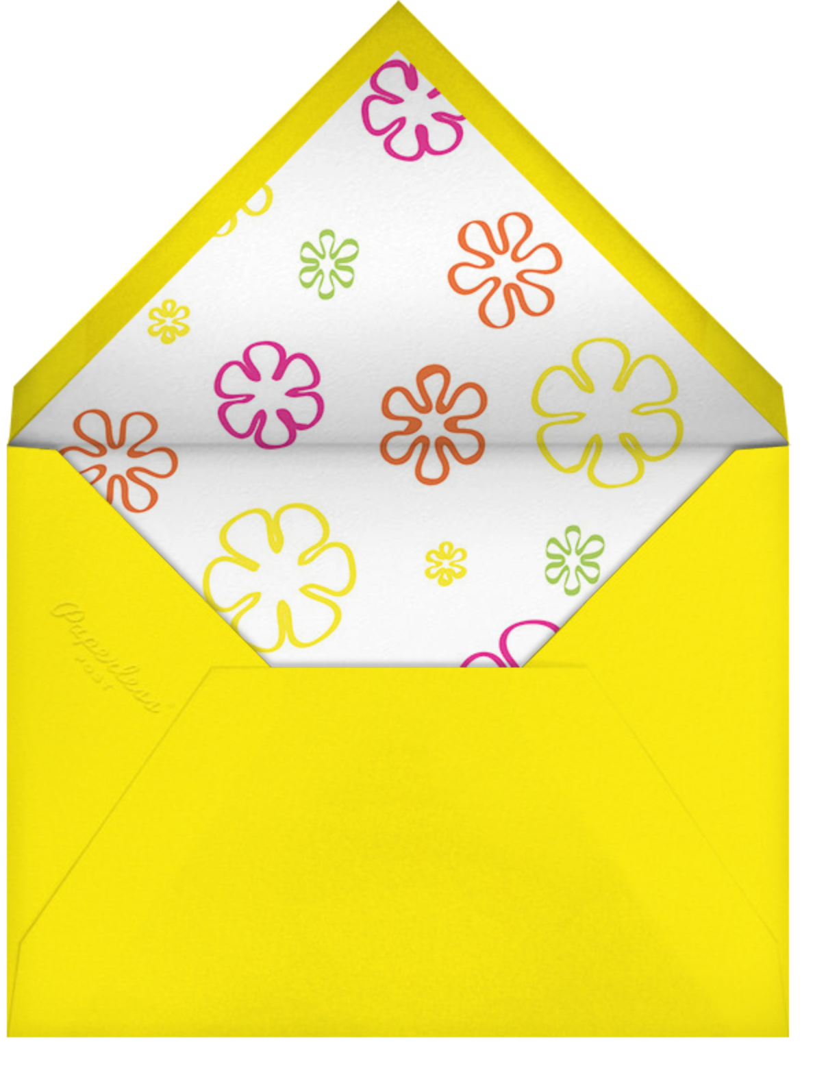 Radiant Birthday Cake - Paperless Post - Kids' birthday - envelope back