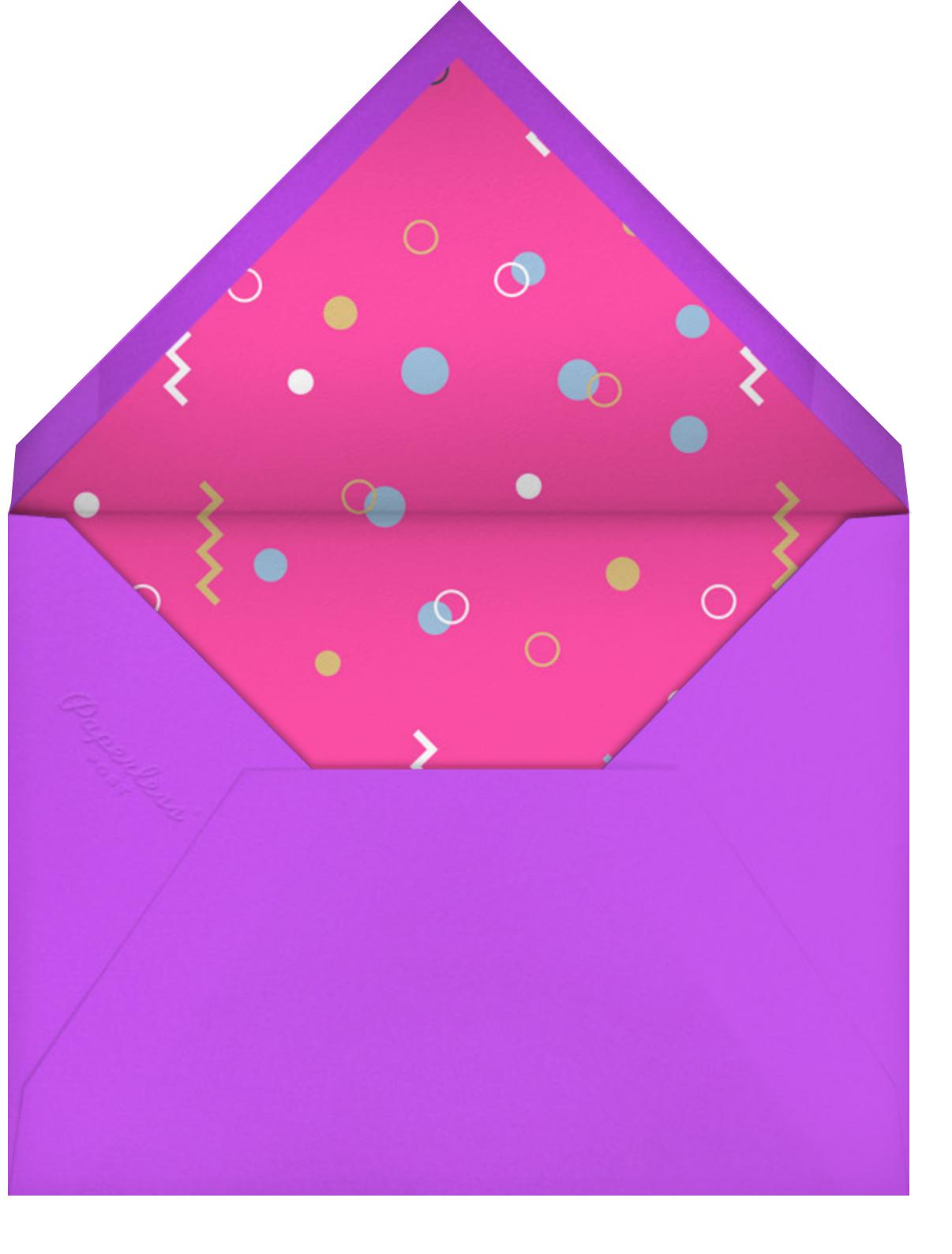 Smudge Border (Tall) - Paperless Post - Kids' birthday - envelope back