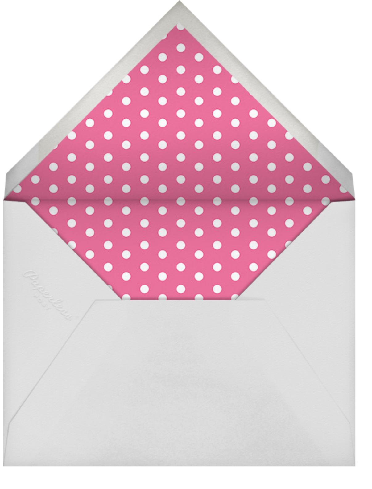 Gradient Brush Strokes - Pink - Paperless Post - Kids' birthday - envelope back