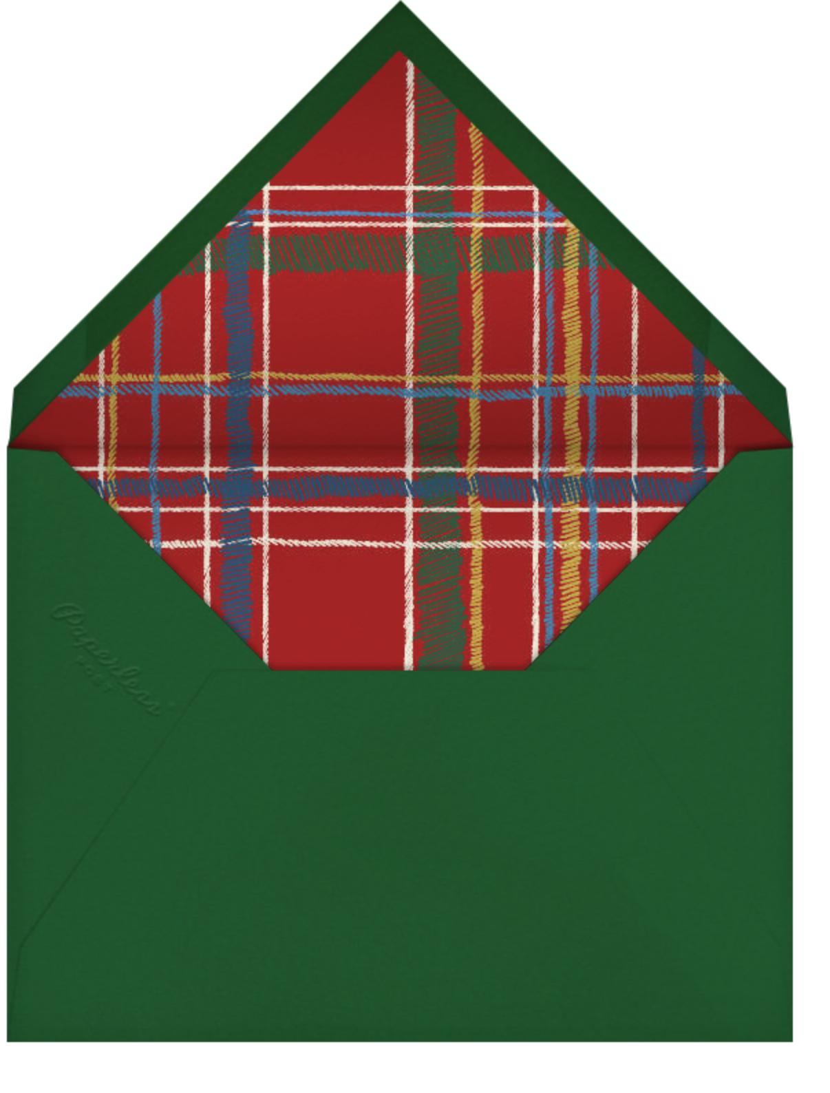 Contemporary Plaid (Square) - Paperless Post - Winter entertaining - envelope back