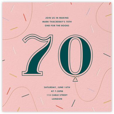 Balloon Drop - Seventy - Paperless Post - Adult Birthday Invitations