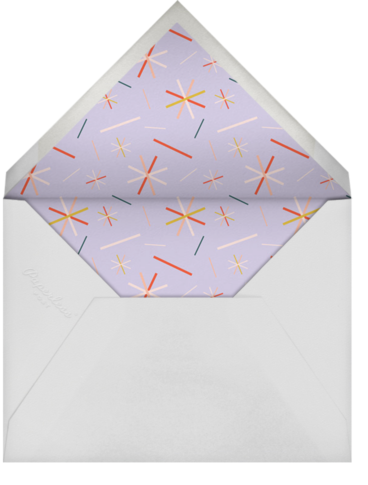 Balloon Drop - Forty - Paperless Post - Adult birthday - envelope back