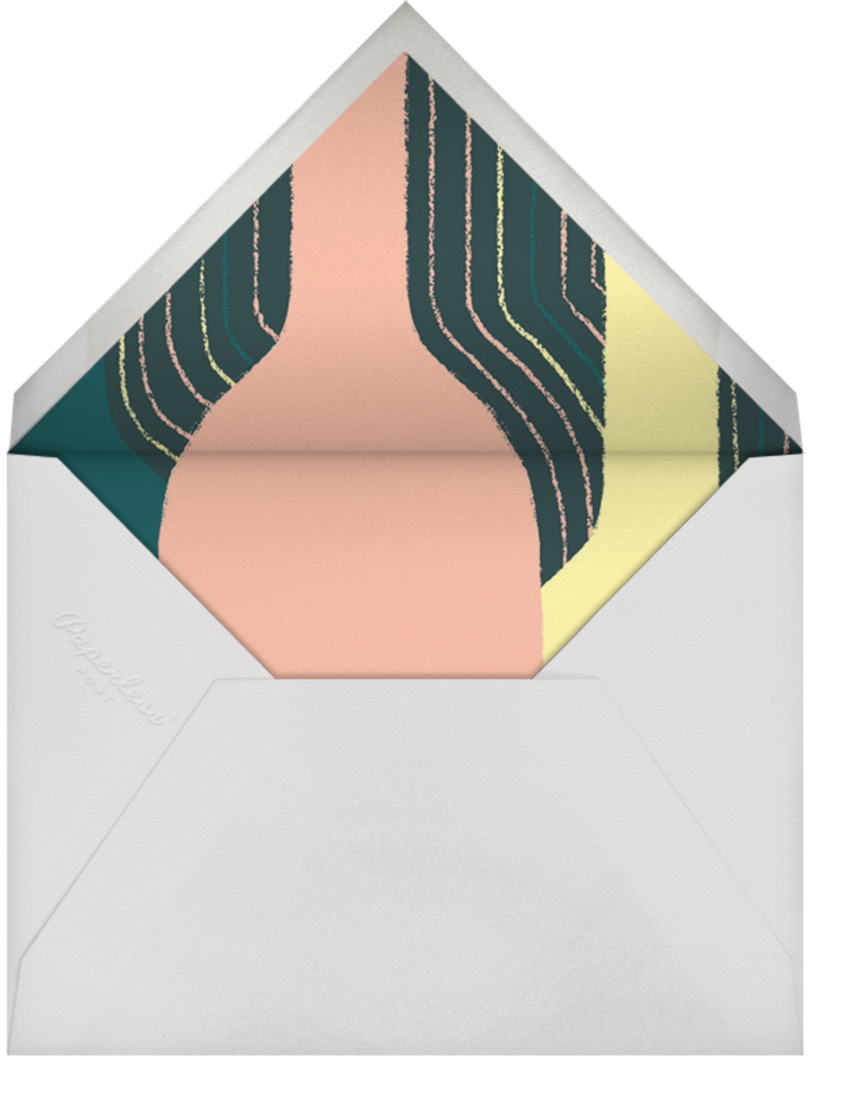 Pour You - White - Paperless Post - Adult birthday - envelope back