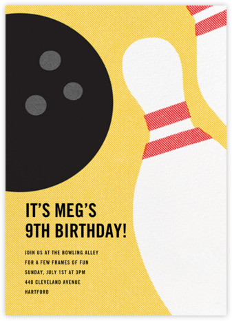 Kingpin - Paperless Post - Online Kids' Birthday Invitations