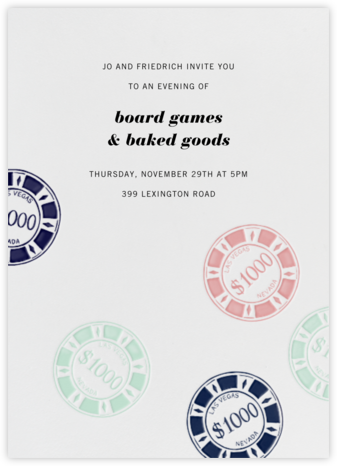 Vegas Bachelor Party - White - Paperless Post - Get-together invitations