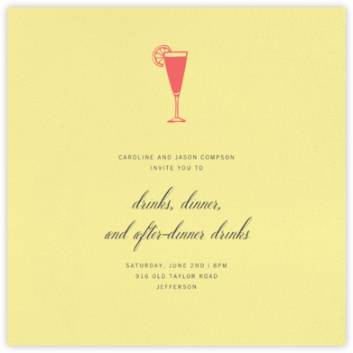 Lemon Drop (Square) - Paperless Post - Dinner Party Invitations