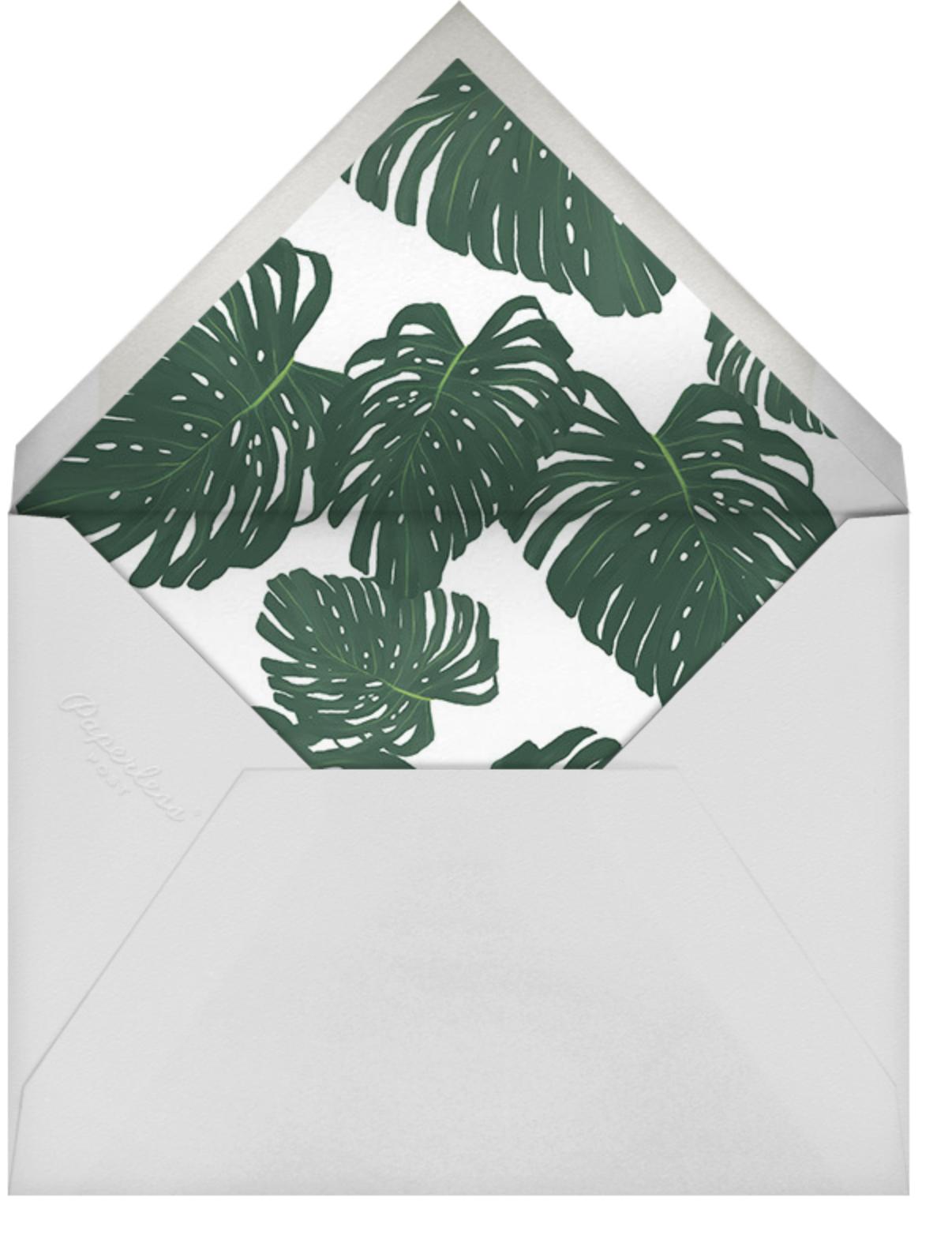 Monstera (Invitation) - Paperless Post - Summer entertaining - envelope back