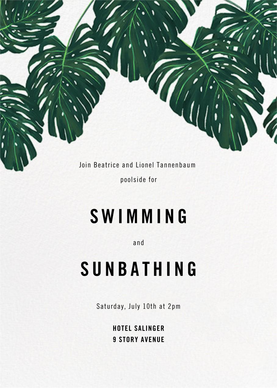 Monstera (Invitation) - Paperless Post - Summer entertaining invitations