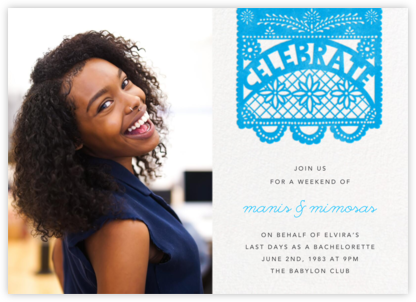 Papel Picado (Photo) - Capri - Paperless Post - Bachelorette Party Invitations